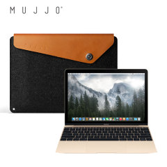 Mujjo Leather Sleeve for the 12 Inch MacBook - Tan