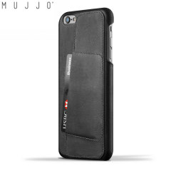 Mujjo Leather Wallet Case 80° iPhone 6S Plus / 6 Plus Case - Black