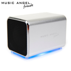 Music Angel Friendz Portable Stereo Speaker - Silver