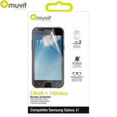 Muvit 2 Pack Matte & Glossy Samsung Galaxy J1 Screen Protectors