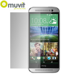 Muvit 2 Pack Matte & Glossy Screen Protector for HTC One M8