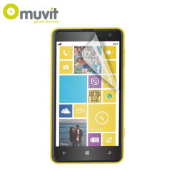 Muvit 2 Pack Matte & Glossy Screen Protector for Nokia Lumia 625