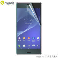 Muvit 3 Pack Matte & Glossy Sony Xperia Z3 Screen Protector