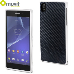 Muvit Carbon Case for Sony Xperia Z2 - White