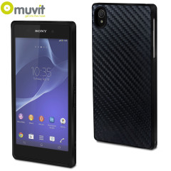Muvit Carbon-Effect Sony Xperia Z2 Case - Black