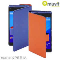 Muvit Chameleon Sony Xperia Z5 Compact Folio Case - Blue / Orange