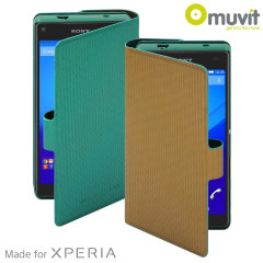 Muvit Chameleon Sony Xperia Z5 Compact Folio Case - Green / Gold