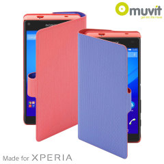 Muvit Chameleon Sony Xperia Z5 Compact Folio Case - Orange / Purple
