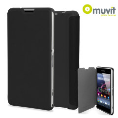 Muvit Easy Folio Leather Style Case for Sony Xperia Z1 Compact - Black