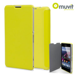 Muvit Easy Folio Leather Style Case for Sony Xperia Z1 Compact - Lime