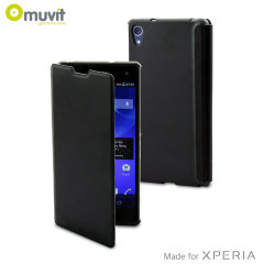 Muvit Easy Folio Leather-Style Case for Sony Xperia Z2 - Black