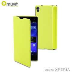 Muvit Easy Folio Leather-Style Case for Sony Xperia Z2 - Lime