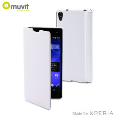 Muvit Easy Folio Leather-Style Case for Sony Xperia Z2 - White