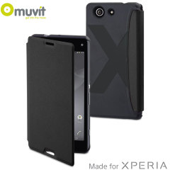Muvit Easy Folio Leather-Style Sony Xperia Z3 Compact Case - Black
