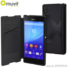 Muvit Easy Folio Leather-Style Sony Xperia Z3+ Case - Black