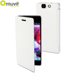 Muvit Easy Folio Leather-Style Wiko Highway Case - White