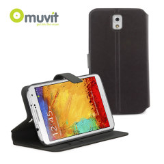 Muvit Folio Flip 'N' Stand Case for Samsung Galaxy Note 3 - Black