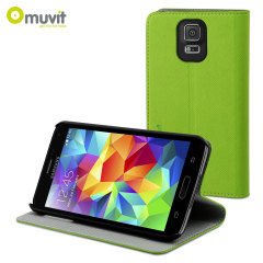 Muvit Folio Stand Case for Samsung Galaxy S5 - Green
