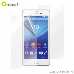 Muvit Front and Back Sony Xperia M4 Aqua Screen Protectors - 3 Pack