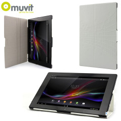 Muvit iFlip and Stand Case for Sony Xperia Tablet Z - White