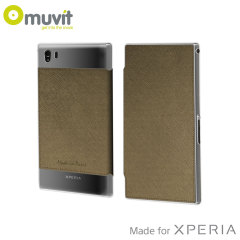 Muvit Made in Paris Crystal Case for Sony Xperia Z1 Compact - Bronze