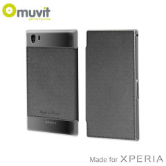 Muvit Made in Paris Crystal Case for Sony Xperia Z1 Compact - Grey