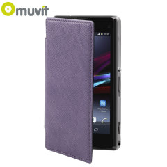 Muvit Made in Paris Crystal Case for Sony Xperia Z1 Compact - Purple