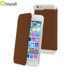 Muvit Made in Paris iPhone 6 Crystal Folio Case - Brown