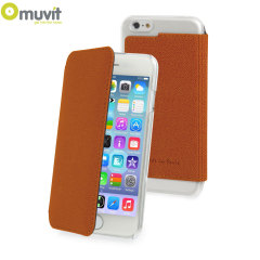 Muvit Made in Paris iPhone 6 Crystal Folio Case - Orange