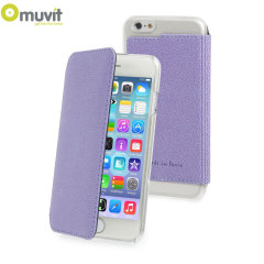 Muvit Made in Paris iPhone 6 Crystal Folio Case - Purple