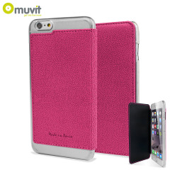 Muvit Made in Paris iPhone 6 Plus Crystal Folio Case - Pink