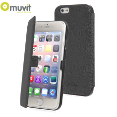 Muvit Made in Paris iPhone 6 Plus Slim Folio Case - Black