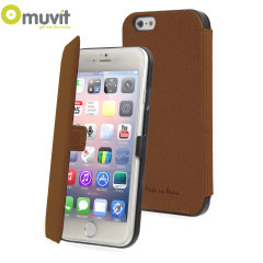 Muvit Made in Paris iPhone 6 Plus Slim Folio Case - Brown
