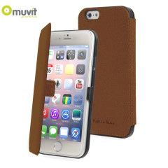 Muvit Made in Paris iPhone 6 Slim Folio Case - Brown