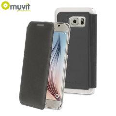 Muvit Made in Paris Samsung Galaxy S6 Crystal Folio Case - Grey