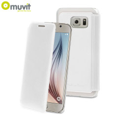 Muvit Made in Paris Samsung Galaxy S6 Crystal Folio Case - White