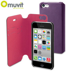 Muvit Magic Folio 2-in-1 Case & Cover for iPhone 5C - Purple & Pink