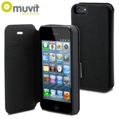 Muvit Magic Folio 2-in-1 Case & Cover for iPhone 5S / 5 - Black
