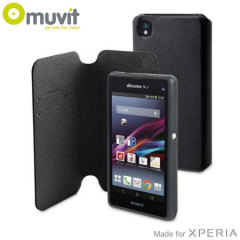 Muvit Magic Folio 2-in-1 Case & Cover for Xperia Z1 Compact - Black