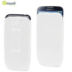 Muvit Samsung Galaxy S4 Leather Style Pouch - White