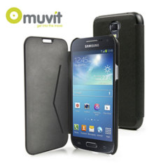 Muvit Samsung Galaxy S4 Mini Folio Case - Black Stone