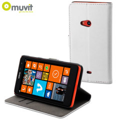 Muvit Slim Folio Case for Nokia Lumia 625 - White
