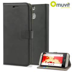 Muvit Slim Folio Flip Case for HTC One M8 - Black