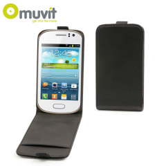 Muvit Slim Folio Flip Case for Samsung Galaxy Fame - Black