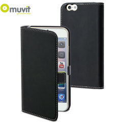 Muvit Slim Folio iPhone 6 Plus Case - Black