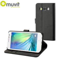Muvit Slim Folio Samsung Galaxy A3 Case - Black