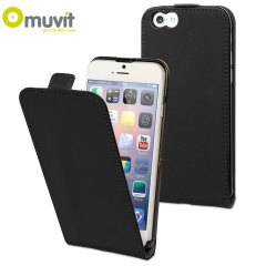 Muvit Slim iPhone 6 Flip Case - Black
