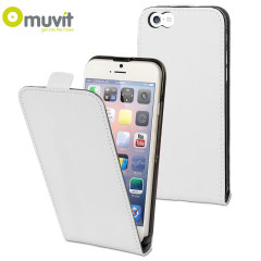 Muvit Slim iPhone 6 Flip Case - White