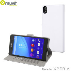 Muvit Slim S Folio MFX Sony Xperia Z5 Case - White