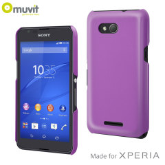 Muvit Sony Xperia E4G Glossy Back Case - Purple
